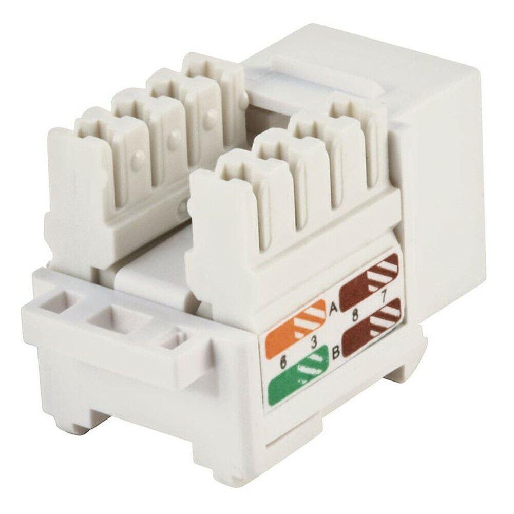 10x Cat5e RJ45 Network LAN Ethernet Keystone Jack 110 ...