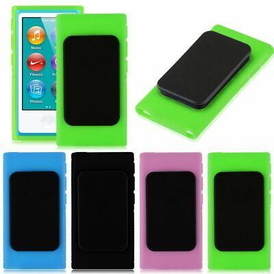 For Apple iPod Nano 7 7th Gen Rubber Gel Case Cover Skin With Belt Clip Holder Apple Ipod Nano Skin