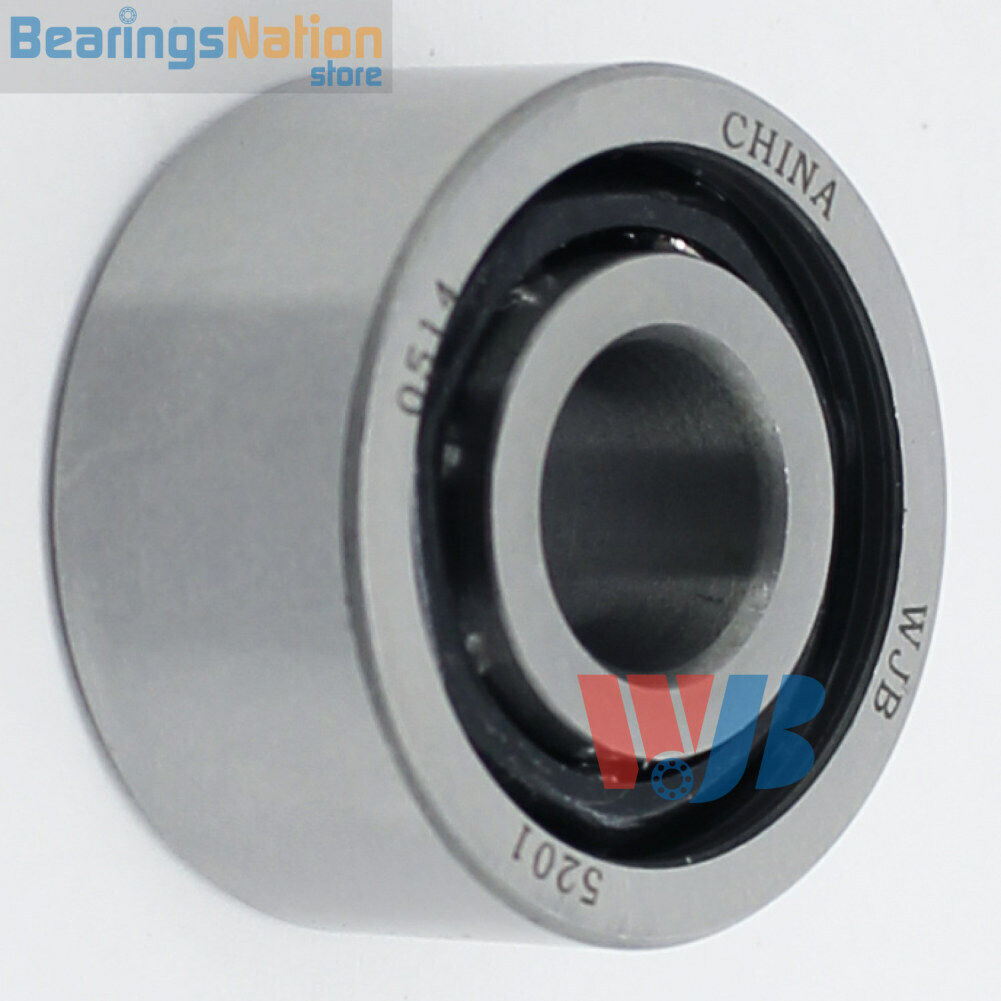Double Row Ball Bearing 5306 Open Steel Cage Light Oil 30x72x30.16mm