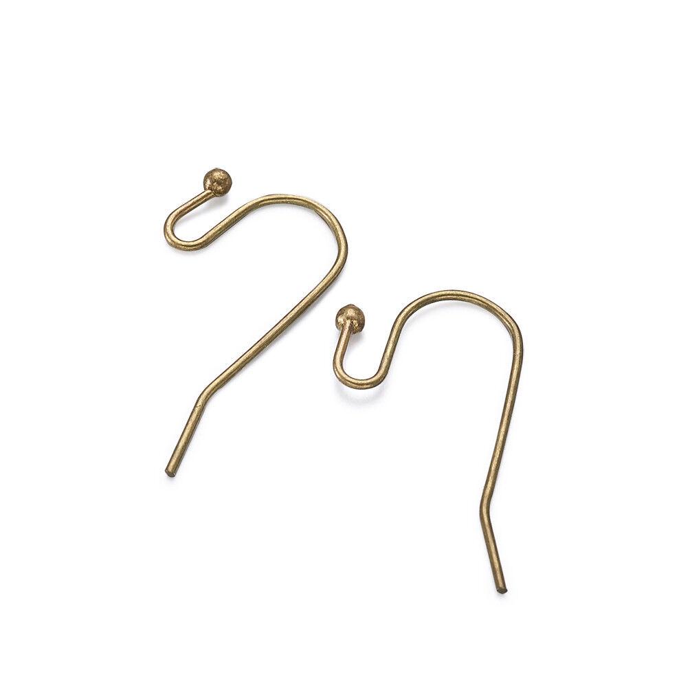 100pcs Red Copper Brass Earring Hooks French Earwire Findings Nickel Free 15mm