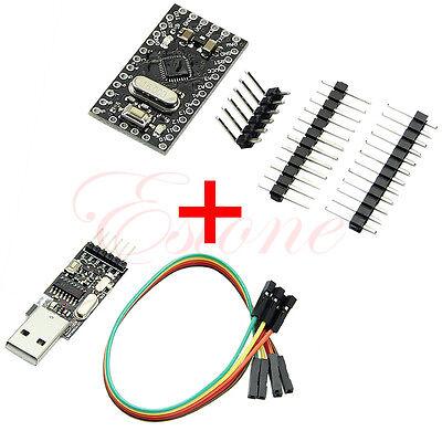 New USB2.0 To TTL 6Pin CH340G Converter + Pro Mini Atmega328 5V 16M For Arduino