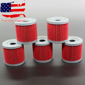 5x Oil Filter F Suzuki LTZ400 LT-Z400 Quadsport 2003 2004 2005 2006 2007 08 2009
