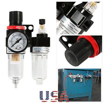 14air Compressor Filter Moisture Water Oil Separator Trap Tool Regulator Gauge