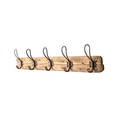 "Kalalou Rustic 5-Hook Coat Rack -Recycled Wood Wall Mount Coat Hanger -26""x 5.5"""