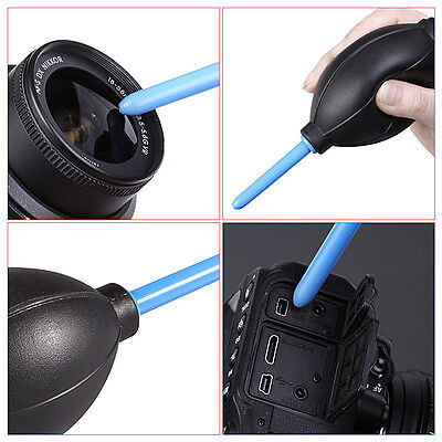 Black Rubber Air Blower Pump Dust Cleaner for Camera Lens CCD
