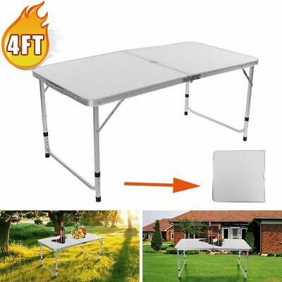 3/4/6 FT Aluminum Folding Table Camping Wedding Party Patio
