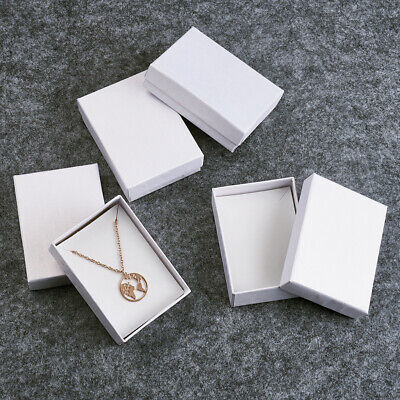 60pc Rectangle Jewelry Gift Earring Necklace Pendants Boxes Present Case 9x6.5cm Necklace Present Gift Box Case