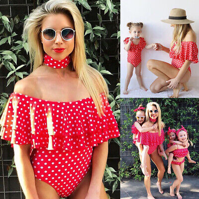 Mother Daughter Matching Outfit Bikini Set Family Summer Swimwear Bathing Suits