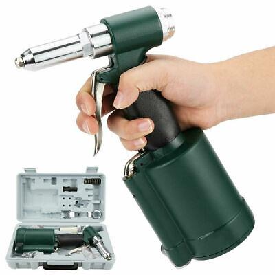 14 Pneumatic Air Hydraulic Poprivet Gun Riveter Riveting Tool Kit Set W Case