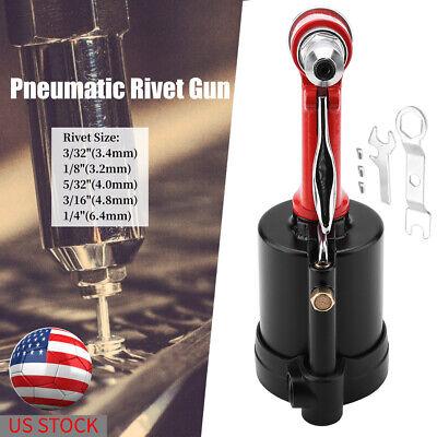 Aluminum Pneumatic Air Hydraulic Rivet Gun Riveter Riveting Tool 14 With Case