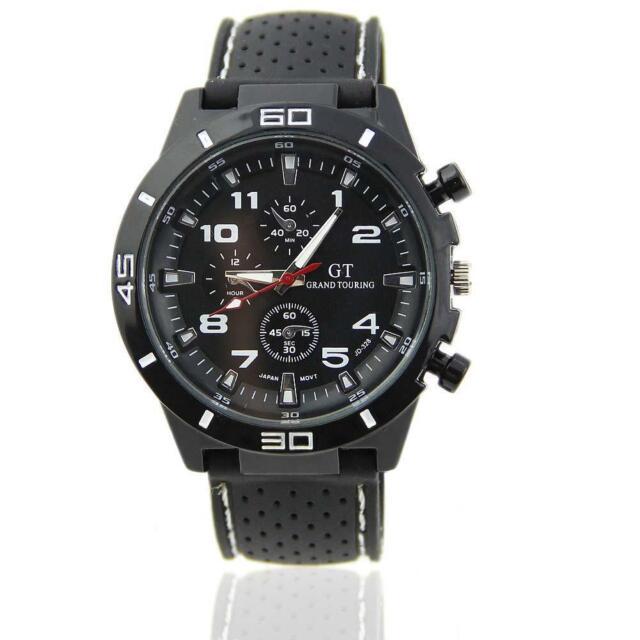 Fashion Stainless Steel Luxury White Sport Analog Quartz Men's Wrist Watch  G1