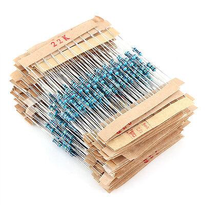 560pc 56 Values 1/4W ±1% 0.25W Metal Film Resistors Kit Pack Mix Assortment New