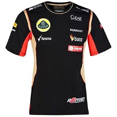T-SHIRT Adult Formula One 1 Lotus F1 Team NEW! PDVSA Grosjean 2014/5