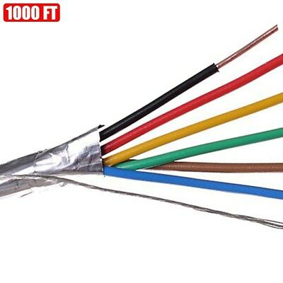 1000ft Shielded Solid Fire Alarm Cable 186 Copper Wire 18awg Fplp Cl3p Ft6 Red