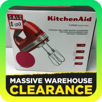 KitchenAid KHM926 Artisan 9 Speed Hand Mixer: Cranberry RRP $199 Tullamarine Hume Area Preview