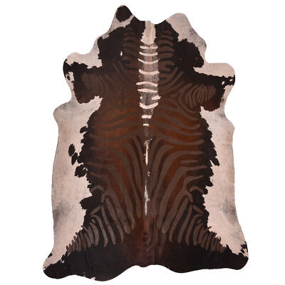 Super Size Genuine Cow Hide - Skin with Zebra Print - Size 5ft x 6ft for sale  Shipping to South Africa
