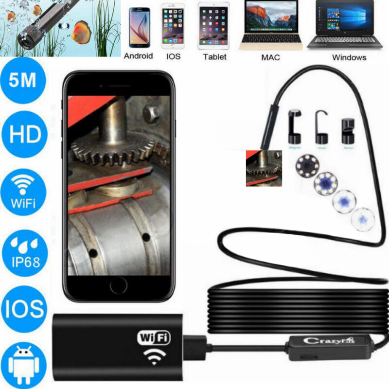 Micro USB Type-C Endoscope Borescope Inspection Camera 6 LED for Mac OS Android