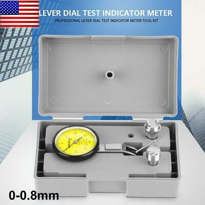 20 Inch 0.01mm Dial Test Indicator 0-0.8mm Level Gauge Scale Dovetail Rails