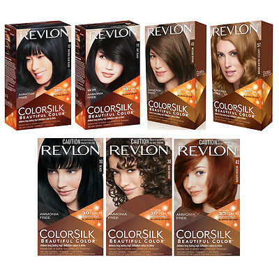 Gray Hair Dye - Revlon Colorsilk Beautiful Color Permanent Grey Coverage Hair Dye Bleach *1PC