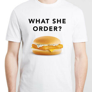What she order fish filet kanye west in paris t shirt for What she order fish fillet