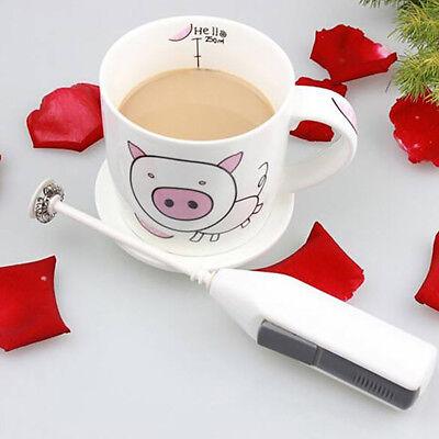 Stainless Steel Handheld Milk Frother Egg Beater Latte Coffee Foamer Whisk UK