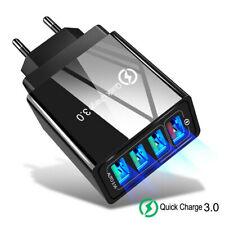 US/EU/UK Plug 4 Ports QC3.0 Fast Quick Charge USB Hub Wall Charger Power Adapter