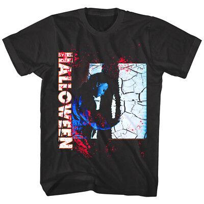 Halloween Horror Movie Blood Splatter Mens T Shirt Knife Slash Attack Scene Myer