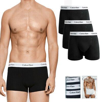 Calvin Klein Men's 3 Pack Underwear Cotton Stretch Boxer Briefs Trunks Black Clothing, Shoes & Accessories
