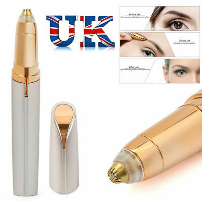Women's Painless Electric Eyebrow Hair Remover Brows Trimmer Epilator White New