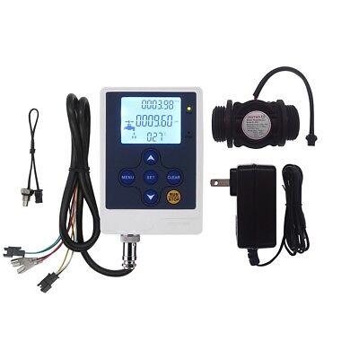 Water Flow Control Lcd Displayg1flow Sensor Meter Flowmeter
