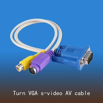 1PC PC VGA SVGA TO S-Video 3RCA Composite AV TV Out Converter Adapter Cable adr segunda mano  Embacar hacia Argentina