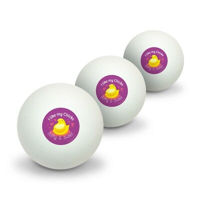 Peeps I Like My Chicks Fluffy and Sweet Table Tennis Ping Pong Ball 3 Pack