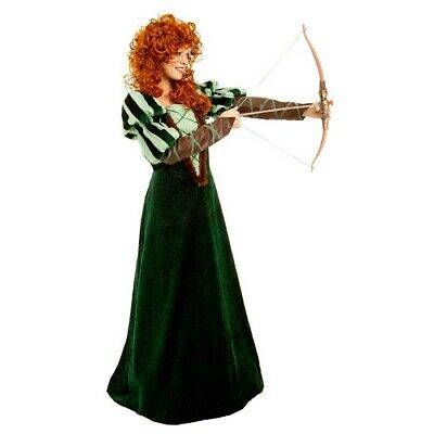 Womens Merida Brave Costume (Forest Princess Womens Costume Merida Brave Dress Medieval Disney Pixar)