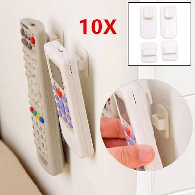 10Pcs Adhesive TV Remote Control Wall Hanger Stand Holders Storage Hook Rack USA