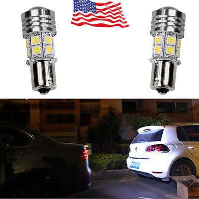 2x 1156 White 12-SMD BA15S 1141 For Car Tail Backup Reverse LED Light US Stock