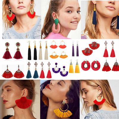 HOT Women BOHO Tassel Earrings Dangle Drop Statement Layd Costume Jewelry Gift - Dangle Costume