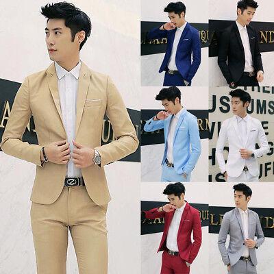 US Fashion Men Classic Formal Business Suit Blazer Slim Fit Luxury Coat Jacket