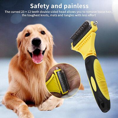 Pet Dog Cat Hair Cut Comb Grooming Tool Blade Brush Shedding Trimmer Tool UK