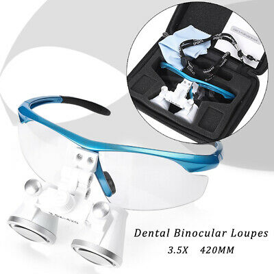 Surgical Medical Binocular Loupes 3.5x 420mm Glasses Magnifier For Dental