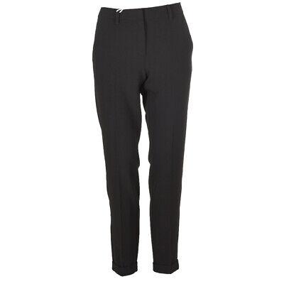 iBLUES MAX MARA Trousers Black Ankle Size 44 / UK 12 RRP £99 BG 205