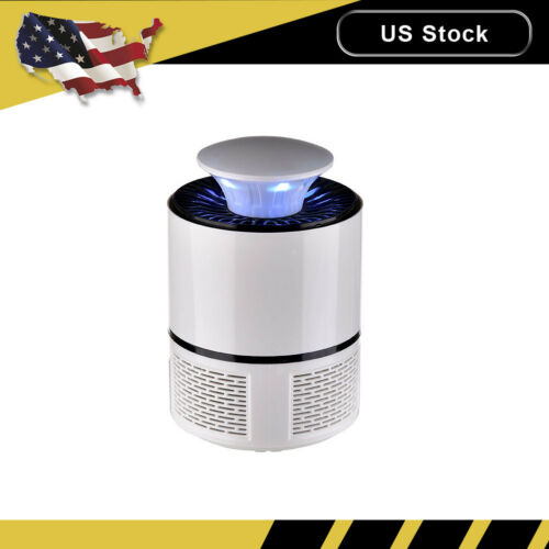 White Electric Fly Bug Zapper Mosquito Insect Killer LED Tra