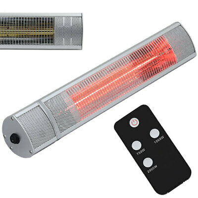 3KW Wall Mounted Outdoor Sun Electric Infrared Patio Heater Garden Warm Lights