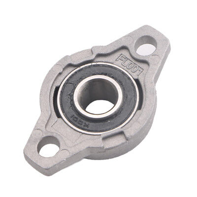 12mm Zinc Alloy Mounted Shaft Support Flange Pillow Block Bearing Units Kfl001
