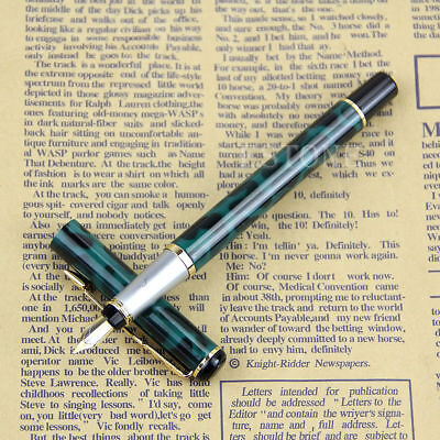 ArtSTOP-Baoer 801 Stainless Steel Medium Nib Fountain Pen + 4 Ink Cartridges