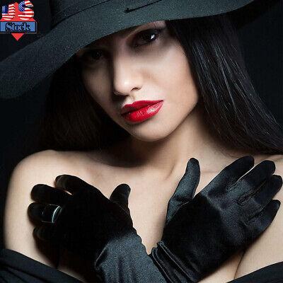 Womens Ladies Wedding Gloves Fancy Dress Party Evening Short Satin Glove US -