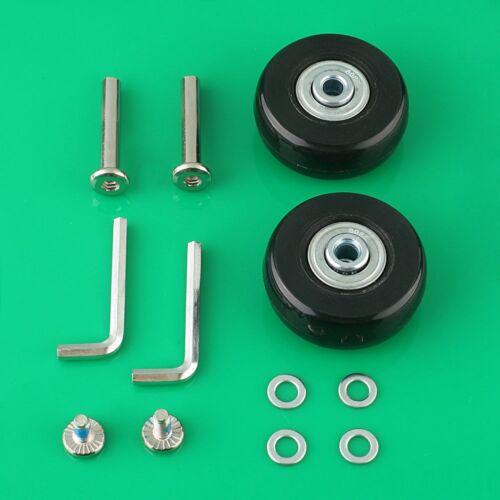 2 Set OD45mm Luggage Suitcase Wheels Repair Kit Axles Replac