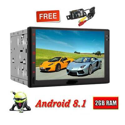 "GPS Navi Map WiFi Double 2Din 7"" Smart Android Car Stereo Radio Bluetooth+Camera"