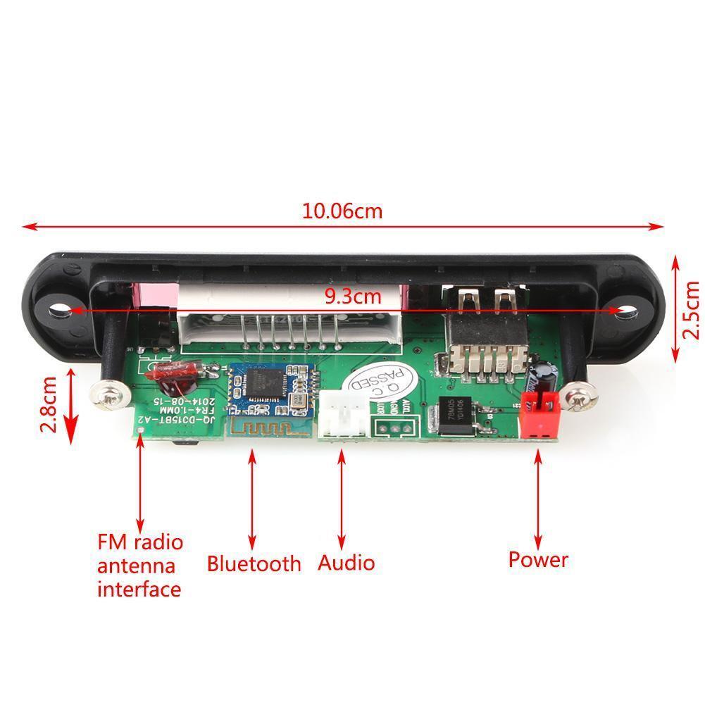 Kkmoon Car Music Mp3 Decoder Board Audio Fm Radio Module: Wireless Bluetooth 12V MP3 WMA Decoder Board Audio Module