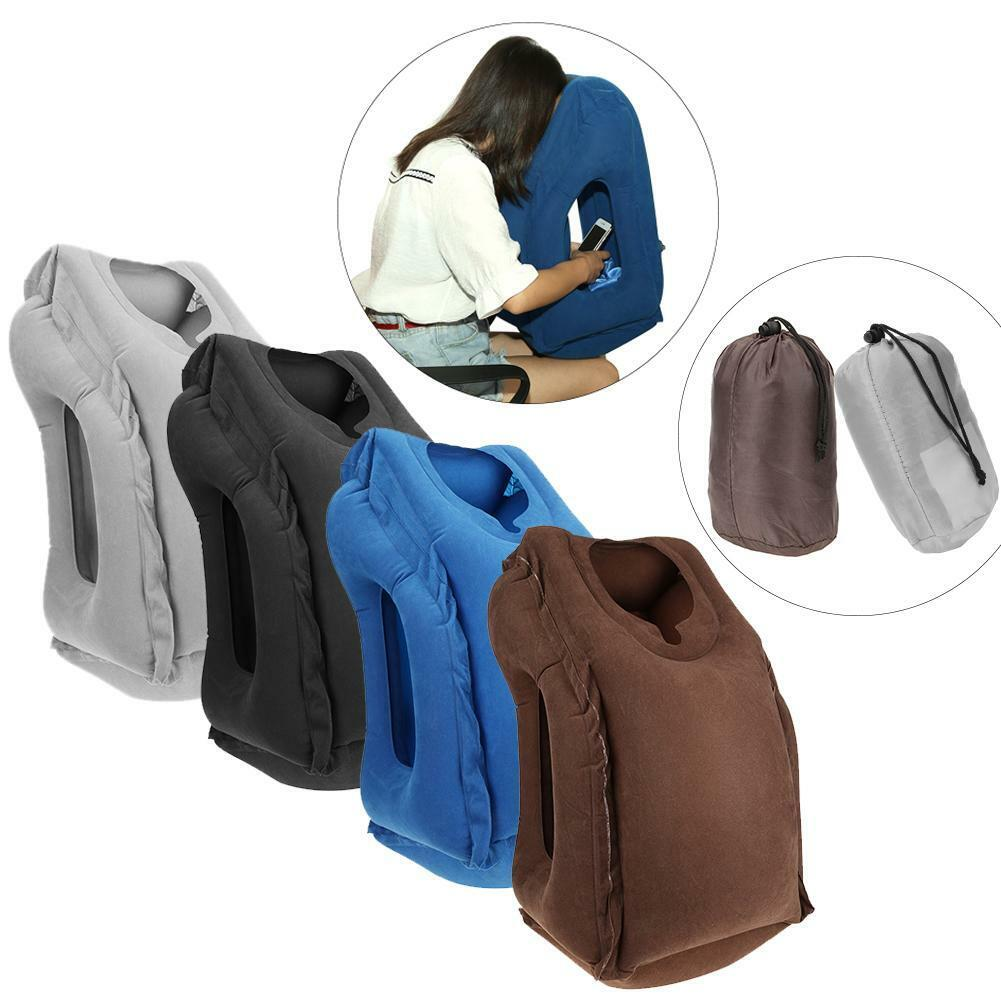 Folding Inflatable Pillow Body Back Support Travel Office Pi