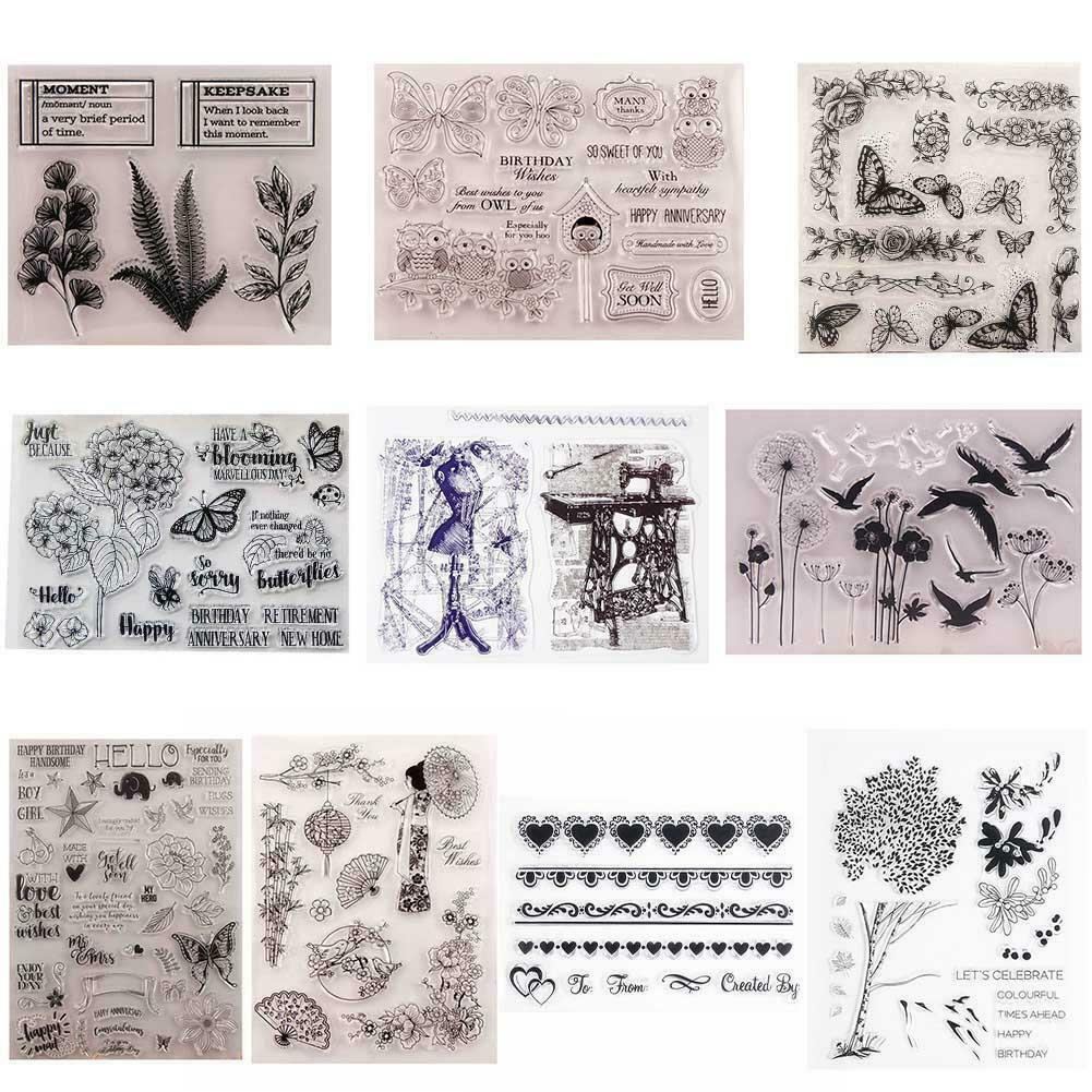 Hedgehog Transparent Silicone Clear Rubber Stamp Cling Card Scrapbooking HOT